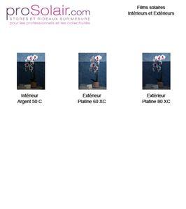 Plaquette Echantillons Films Solaires