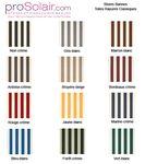 Plaquette échantillons  Stores bannes - Toiles rayures classiques