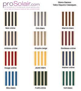 Plaquette Echantillons Stores Bannes - Toiles Rayures Classiques