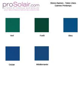 Plaquette Echantillons Stores Bannes - Toiles Unies - Gamme PRINTEMPS